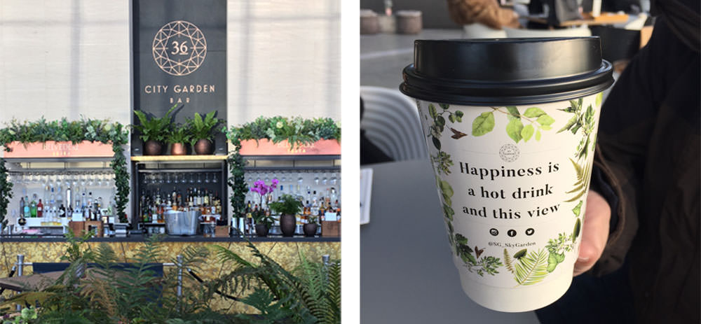 Sky Garden - Café, Restaurant und Bar